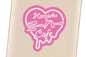かわいいカフェのステッカーデザイン