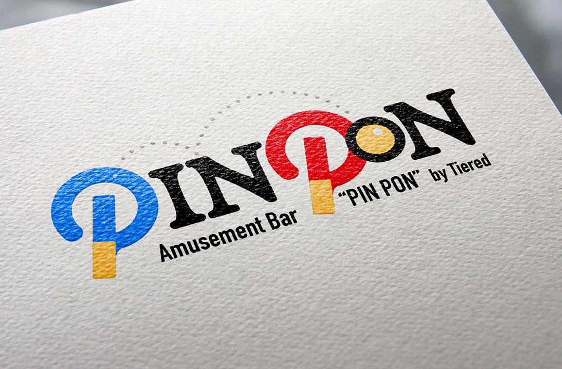 卓球バーのロゴデザイン